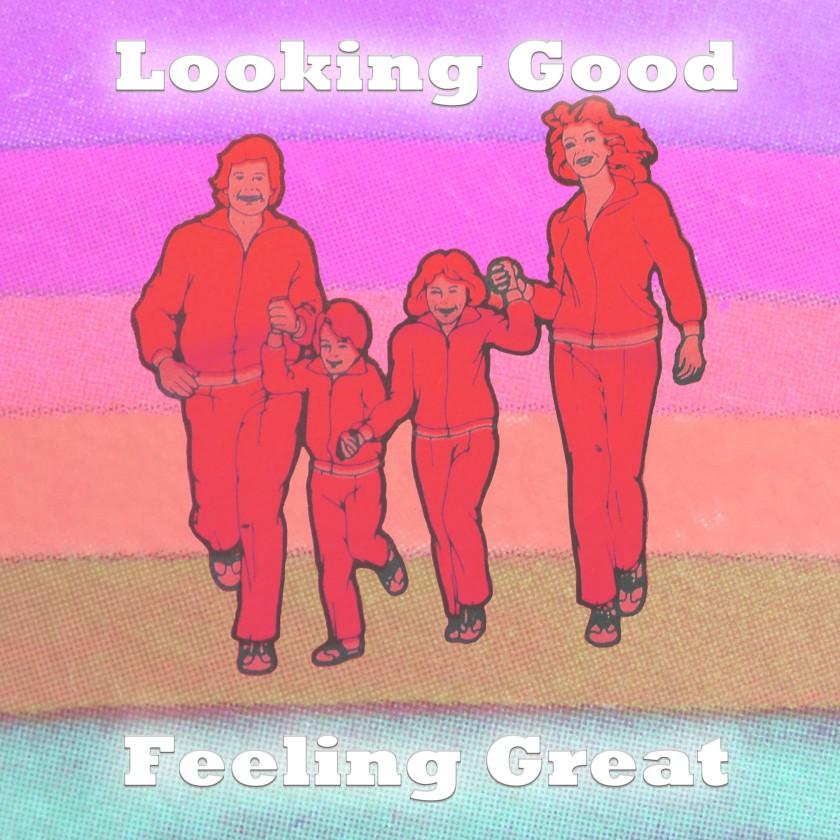 Looking Good, Feeling Great Rainbow Final with Text Glow - purple